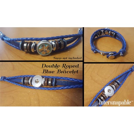 Blue Double-Roped Bracelet