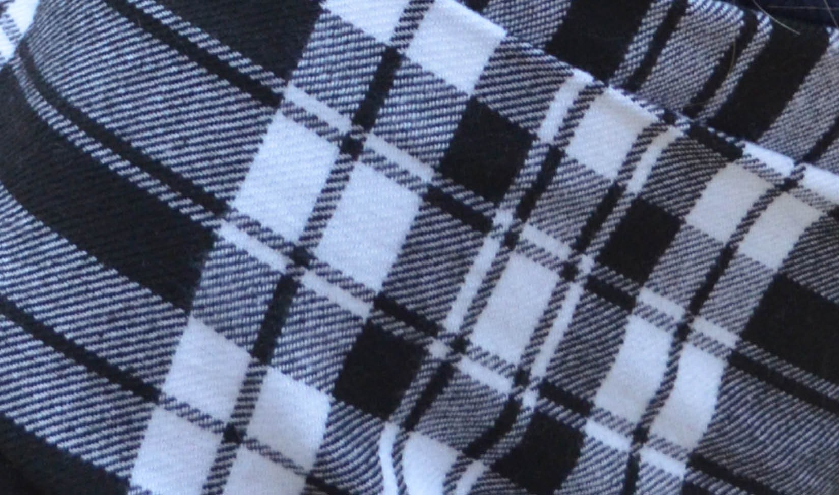 Plaid- Black, Grey, White